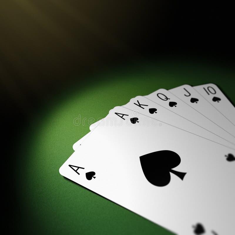 Download Poker royal flush stock illustration. Illustration of green - 6753988