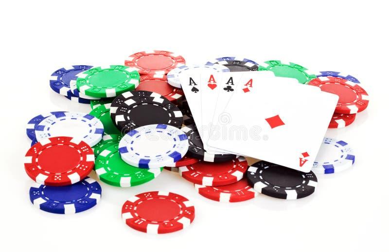 Download Poker scene stock image. Image of cards, hazard, green - 17202829