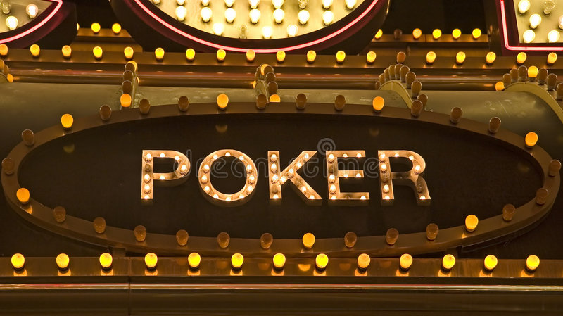 Poker Sign stock photos