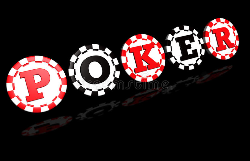 Download Poker Sign On Black stock illustration. Illustration of game - 20573245