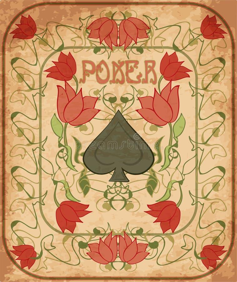 Free Poker Spades Element In Art Nouveau Style Stock Photo - 108141880