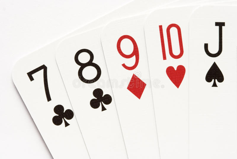 Poker - straight stock photo. Image of casino, spades ...