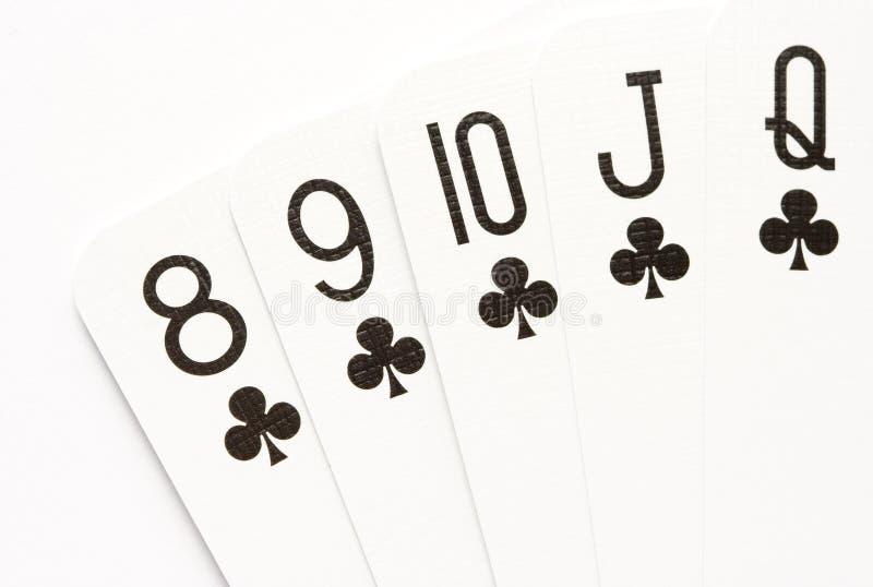 Download Poker - straight flush stock photo. Image of nine, white - 13355646