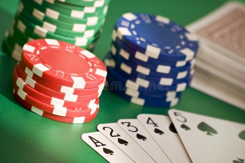 Poker Straight Flush Royalty Free Stock Image