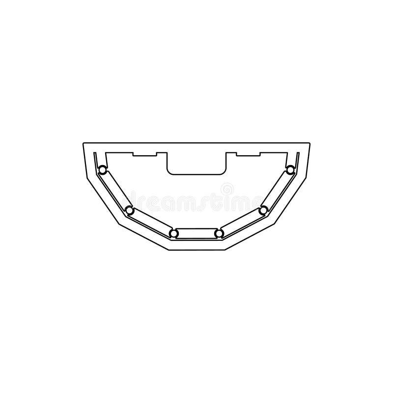 Poker-Tabellen-Ikone Element der Kasinoikone Erstklassige Qualit?tsgrafikdesignikone Zeichen und Symbolsammlungsikone f?r Website lizenzfreie abbildung