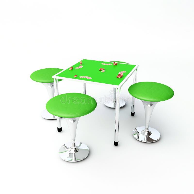 Download Poker table stock illustration. Image of casino, straight - 4933109