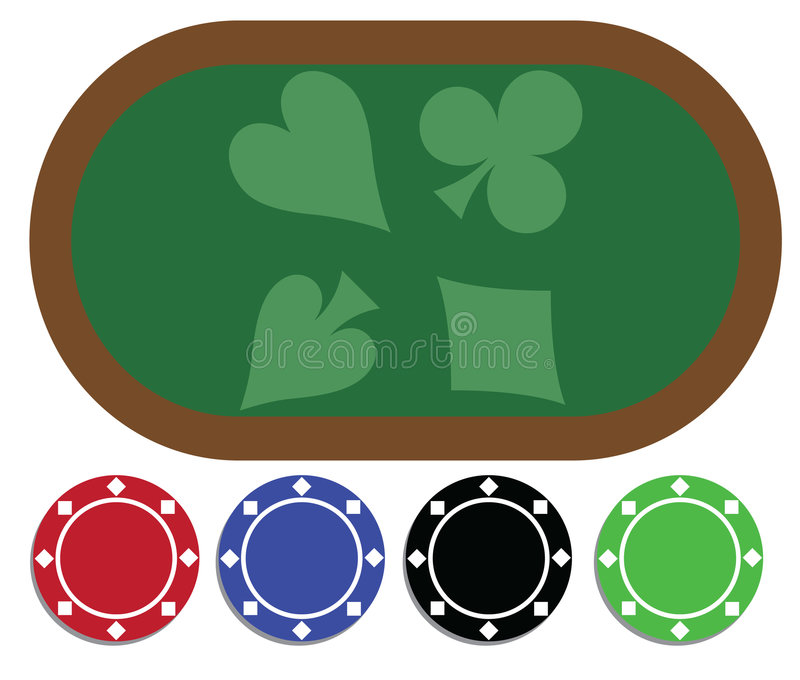 poker table clipart