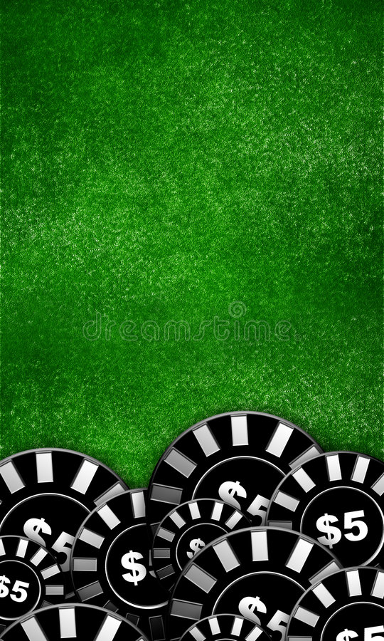 Poker table background stock photo