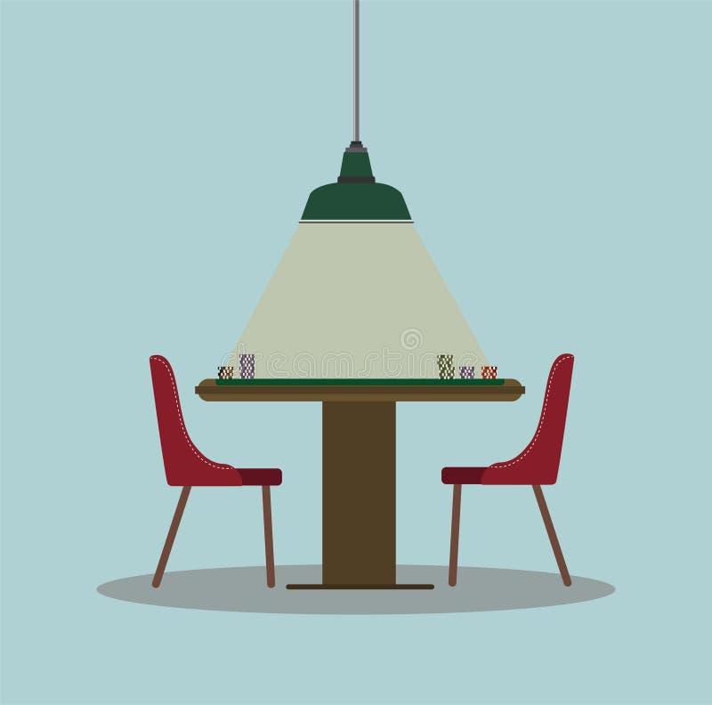 Poker table illustration. royalty free stock photos