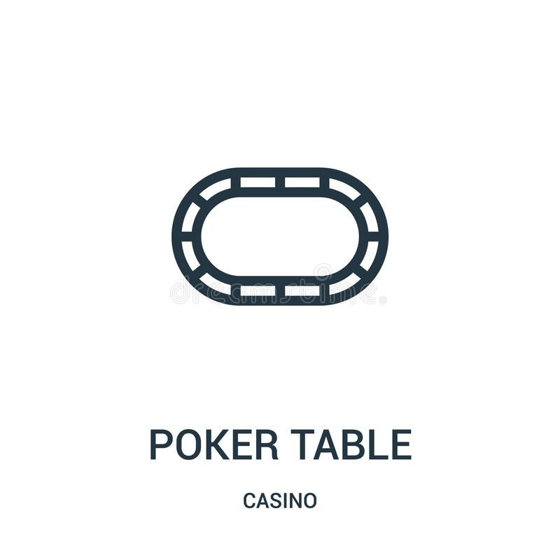 poker table icon vector from casino collection. Thin line poker table outline icon vector illustration vector illustration