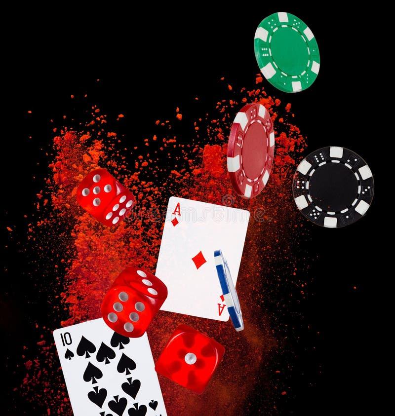 Pokerbakgrund stock illustrationer