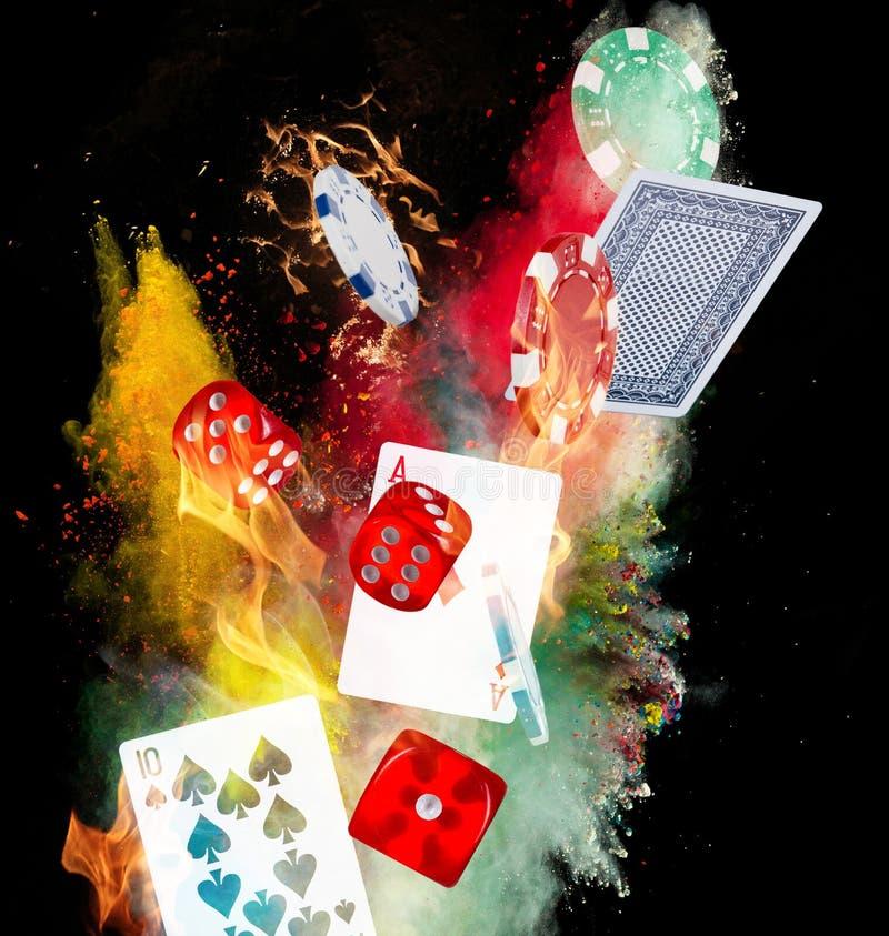Pokerbakgrund vektor illustrationer