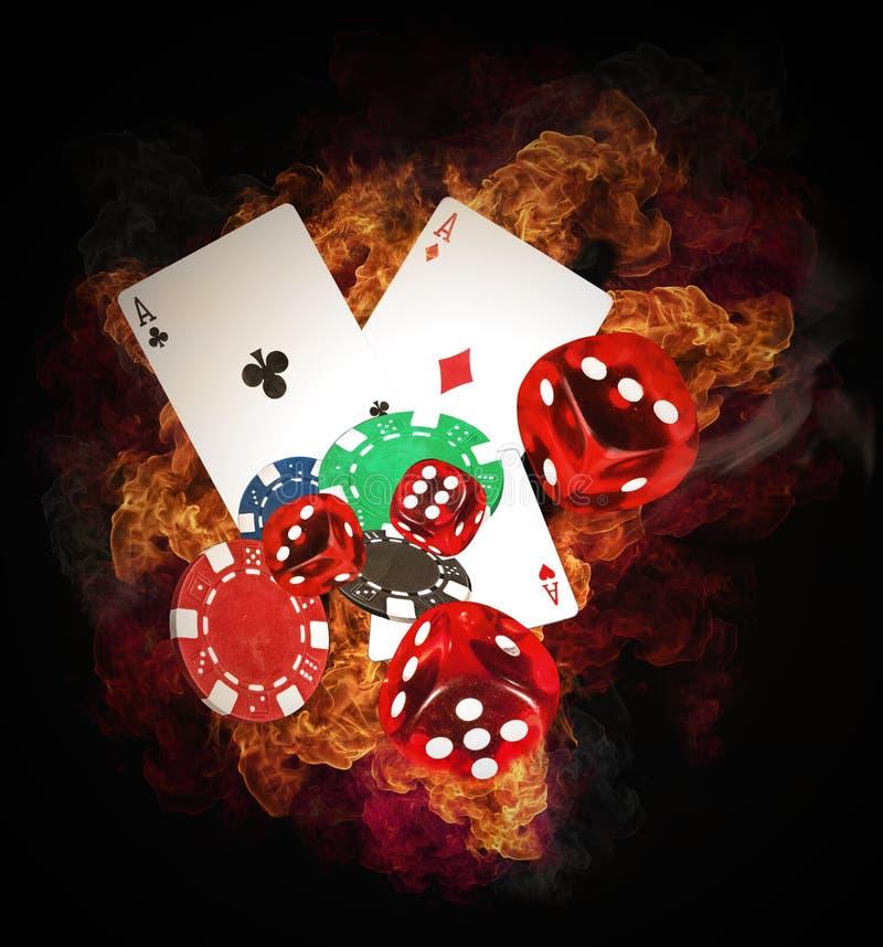 Pokerbegrepp royaltyfria bilder