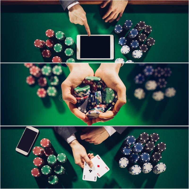 Pokercollage lizenzfreie stockfotos
