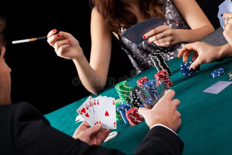 Pokerdobbleritabell royaltyfri fotografi