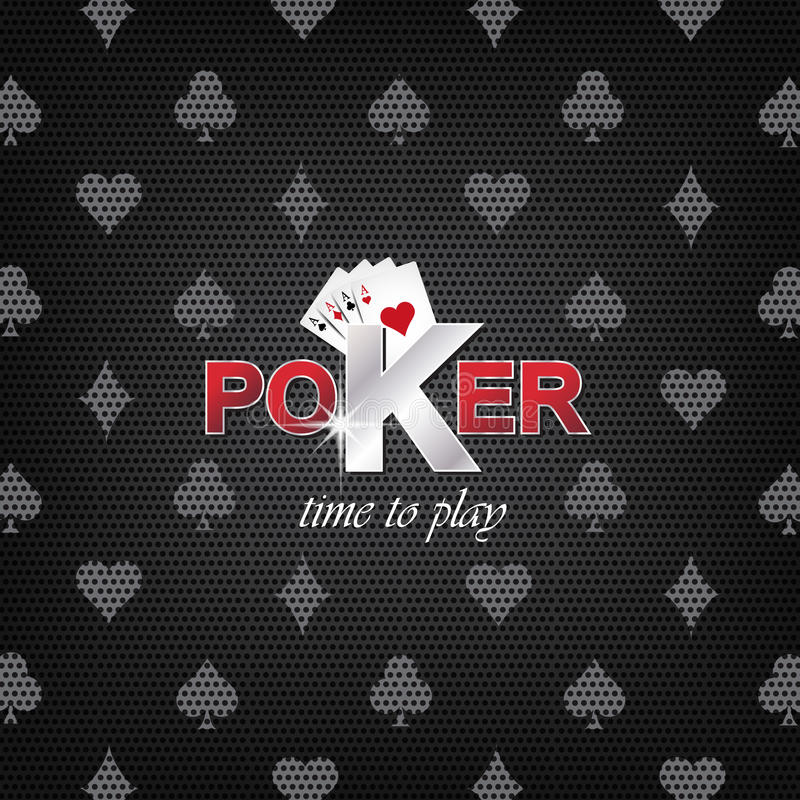 Pokerillustration auf einem dunklen Hintergrund mit Kartensymbol vektor abbildung