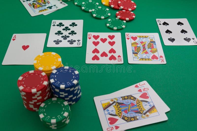 Pokerkarte stockbilder