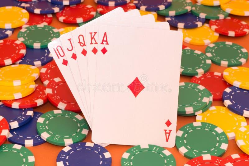 Pokerkarte stockbild