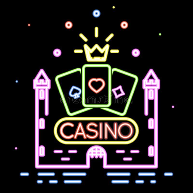 Pokerklubba eller kasinovektorbakgrund vektor illustrationer