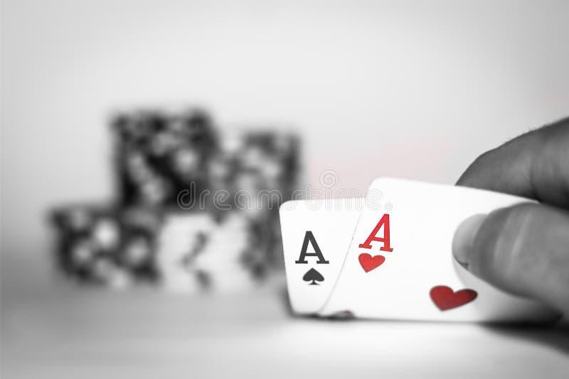 Pokerkontrolle stockbilder