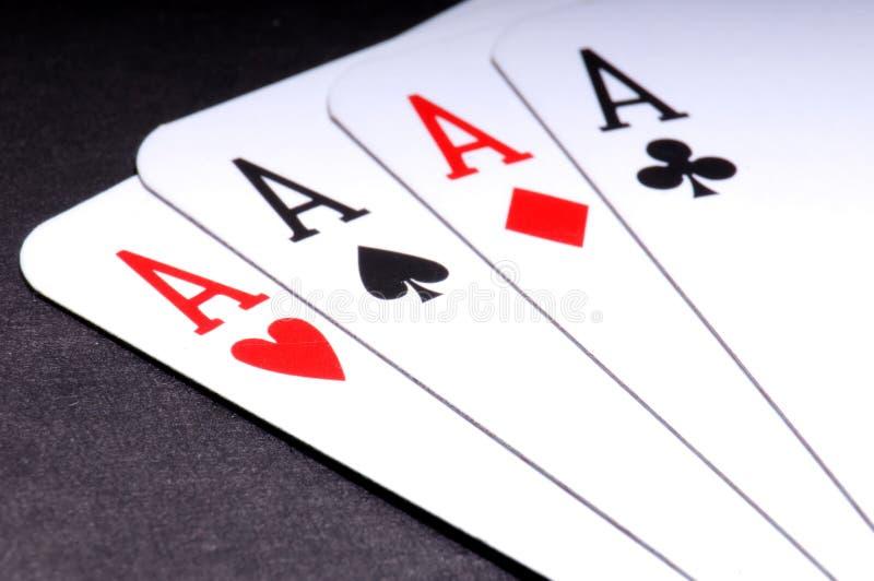 Pokerlek arkivfoton