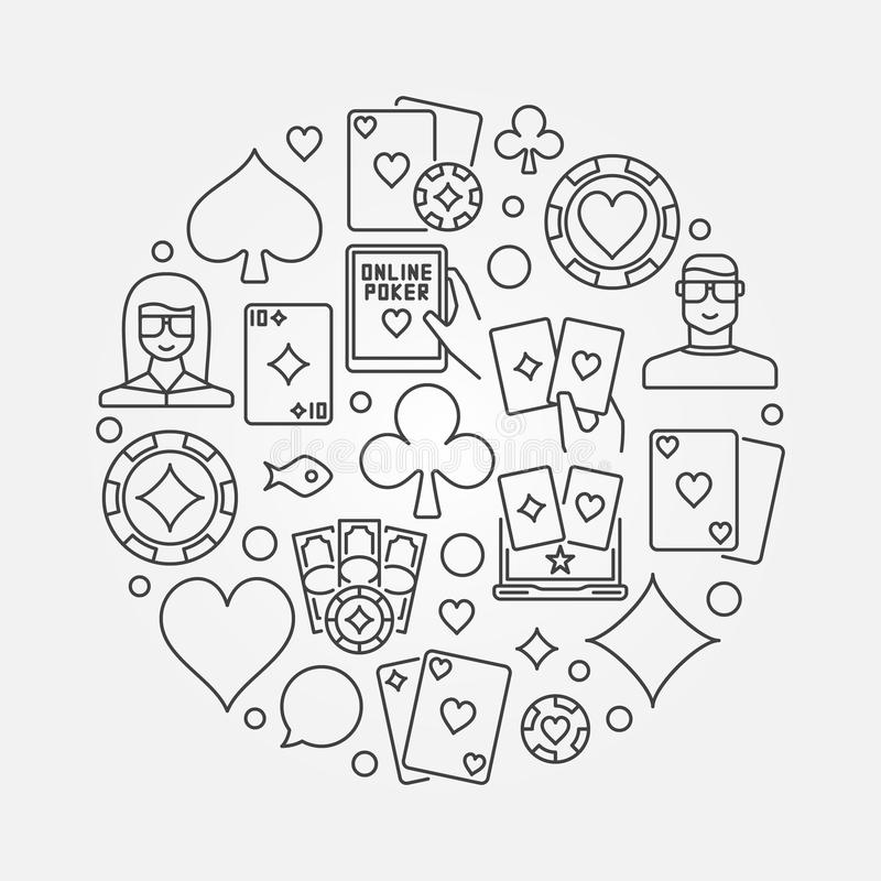Pokerlinje illustration vektor illustrationer