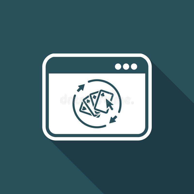 Pokeronline-dobbel - plan symbol för vektor stock illustrationer