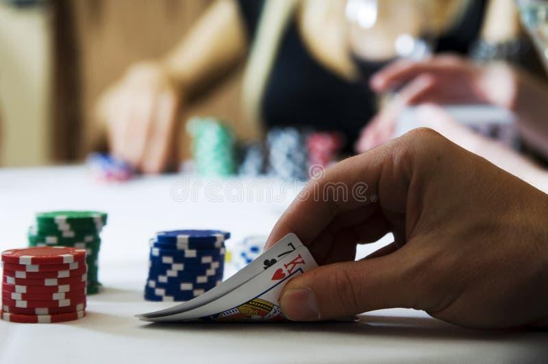 pokerspänning royaltyfri fotografi