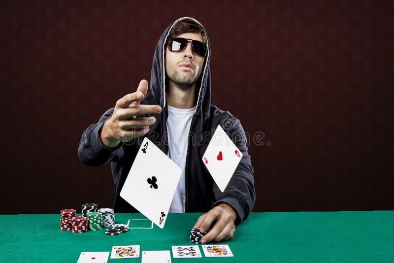 Pokerspelare royaltyfria foton