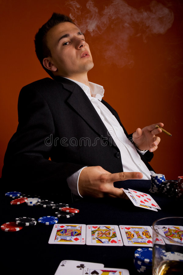 Pokerspelare 3 arkivbild
