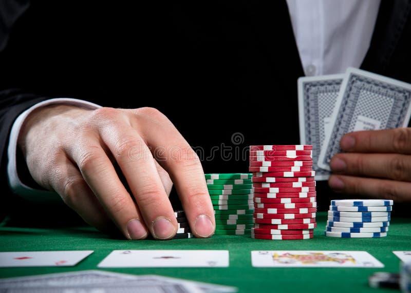 Pokerspelare royaltyfri foto