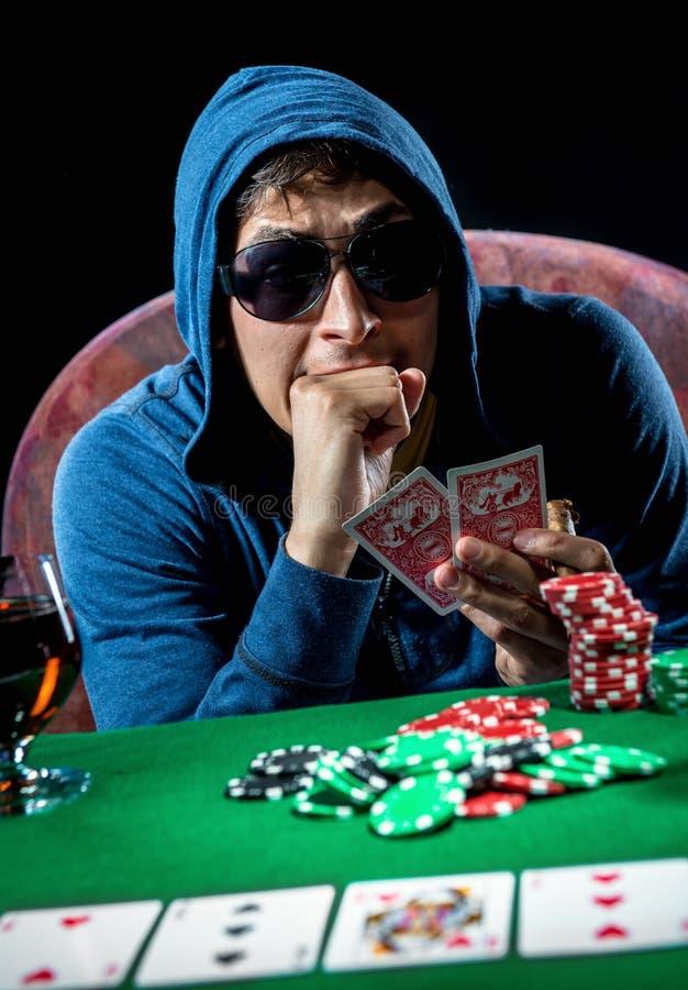 Pokerspelare arkivfoton