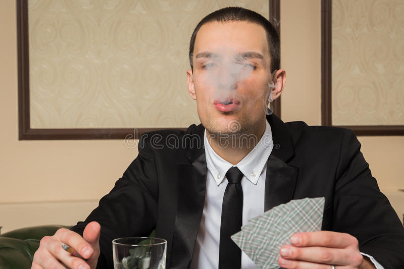 Pokerspieler stockfotos