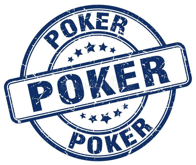 Pokerstämpel royaltyfri illustrationer