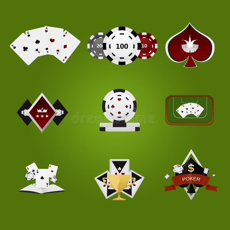 Pokersymboler stock illustrationer