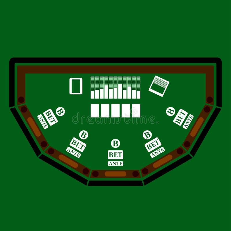 Pokertabellsymbol stock illustrationer
