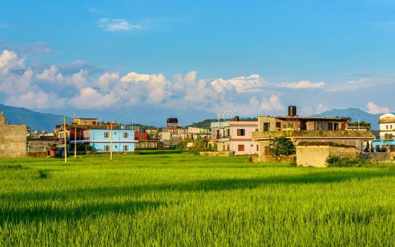 Pokhara в Непале стоковые фотографии rf