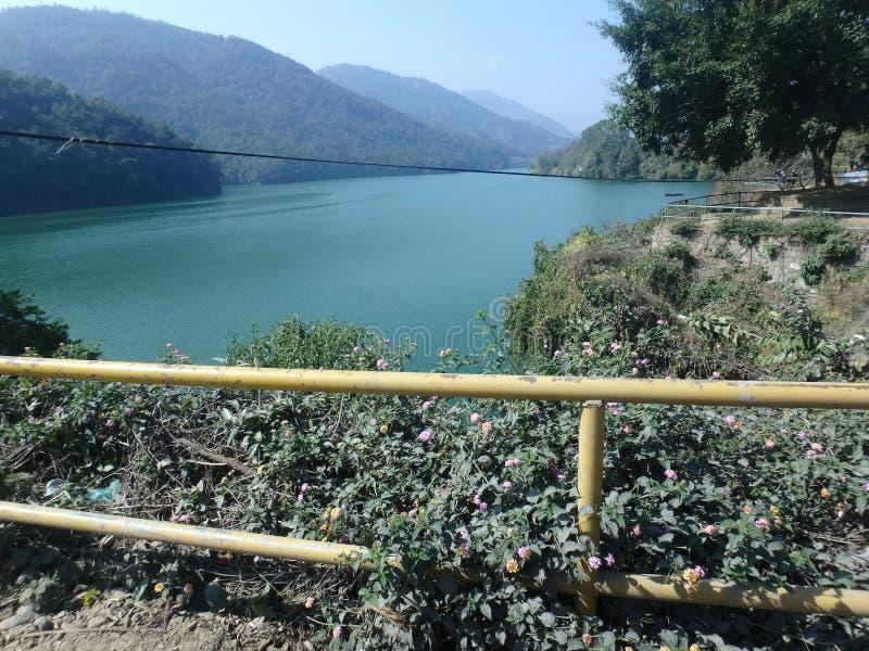 Pokhara brzeg jeziora fotografia stock