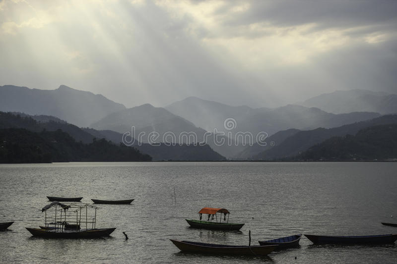 Pokhara, Nepal. Pokharra is the beautiful city of Nepal and Fewa lake added the beauty on Pokhara. Native peoples first destination for leisure travelling is royalty free stock images
