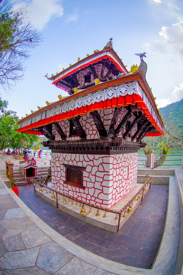 POKHARA, NEPAL - SEPTEMBER 04, 2017: Tal Barahi Temple, located at the center of Phewa Lake, is the most important royalty free stock photo