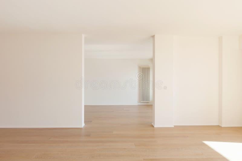 Pokoje z biel ścianą obraz royalty free
