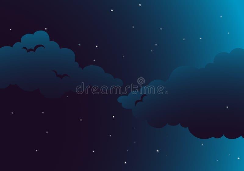 Pokojowa noc royalty ilustracja