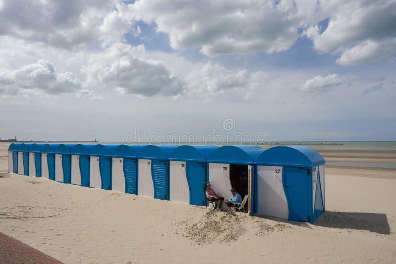 Pokojowa plaża Dunkirk, w Francja Miejsce dynamo operacja w 1940 obraz royalty free