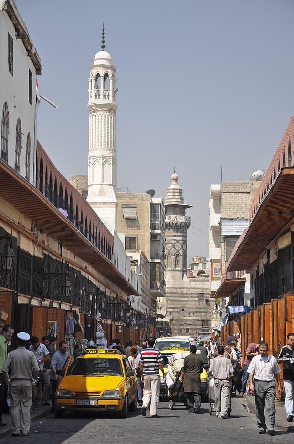 Pokojowy dzień przy Przez odbytnic, Damaszek, Syria obrazy stock