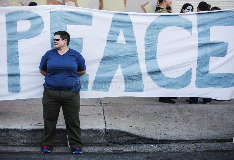 Pokoju demonstrant obrazy royalty free