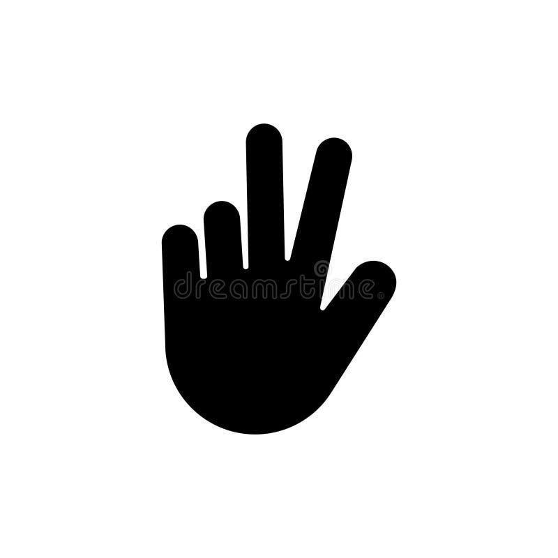 Pokoju gest, zwycięstwo ręki Płaska Wektorowa ikona ilustracja wektor