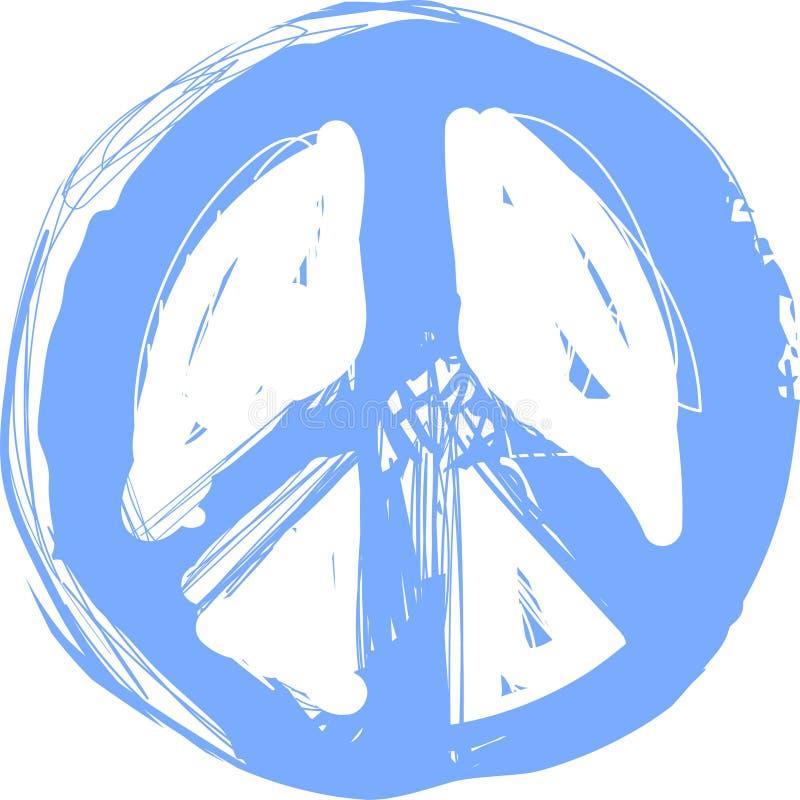 Pokoju hipisa symbolu doodle sztuka Wolno??, duchowo??, okultyzm, tkaniny sztuka Wektorowa ilustracja dla koszulka druku royalty ilustracja