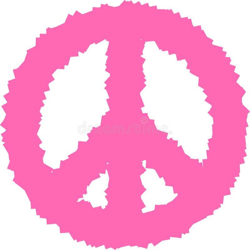 Pokoju hipisa symbolu doodle sztuka Wolno??, duchowo??, okultyzm, tkaniny sztuka Wektorowa ilustracja dla koszulka druku ilustracji