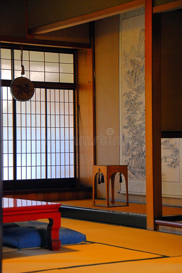 pokoju japoński styl zdjęcie stock