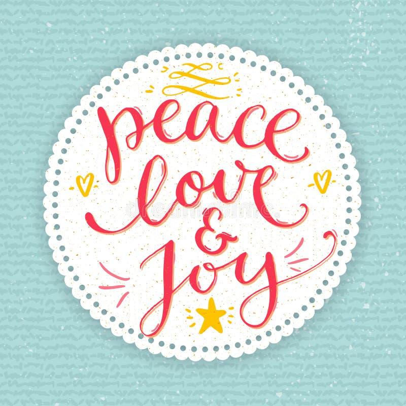 Pokoju, miłości i radości tekst, Kartka bożonarodzeniowa z ilustracji